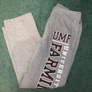 medium umf sweatpants grey maroon